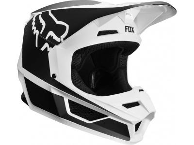Мотошлем подростковый Fox V1 Przm Youth Helmet Black/White S 47-48cm (20084-018-S) фото 1
