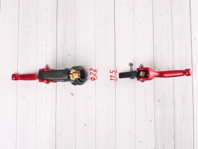 Рычаги сцепления и тормоза ASV replica красные фото 5