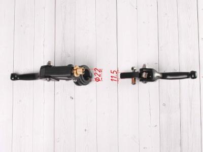 Рычаги сцепления и тормоза ASV replica черные короткие фото 5