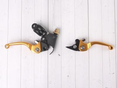 Рычаги сцепления и тормоза ASV replica золотые фото 7