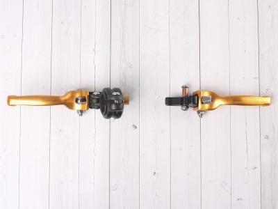 Рычаги сцепления и тормоза ASV replica золотые фото 9
