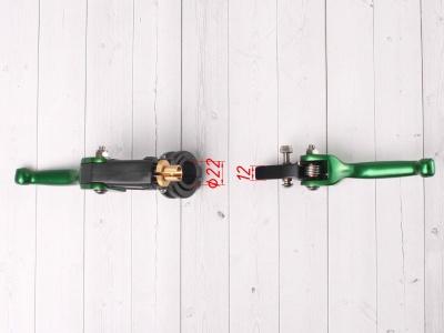 Рычаги сцепления и тормоза ASV replica зеленые короткие фото 5