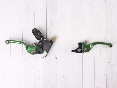 Рычаги сцепления и тормоза ASV replica зеленые короткие фото 7