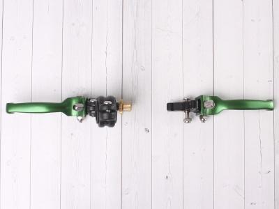 Рычаги сцепления и тормоза ASV replica зеленые короткие фото 9