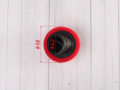 Фильтр воздушный 42мм угловой красный фото 3