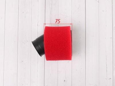 Фильтр воздушный 42мм угловой красный фото 5