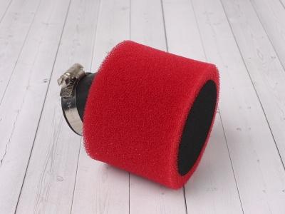 Фильтр воздушный 38мм угловой красный фото 1