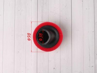 Фильтр воздушный 38мм угловой красный фото 3