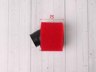 Фильтр воздушный 38мм угловой красный фото 5