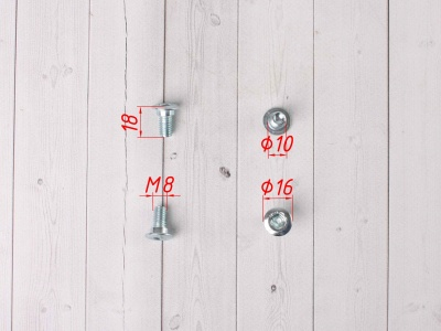 Болты крепления тормозного диска KAYO BSE цилиндр 4шт фото 3