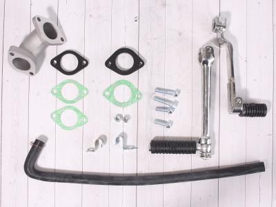 Двигатель YX 150см3 в сборе, кикстартер 1P56FMJ (W150-5) фото 15