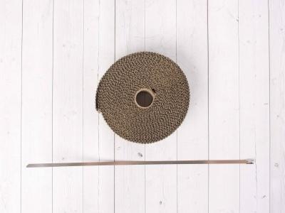 Термолента для обмотки выхлопной трубы 10м титановый цвет фото 3