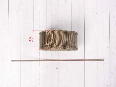 Термолента для обмотки выхлопной трубы 10м титановый цвет фото 5