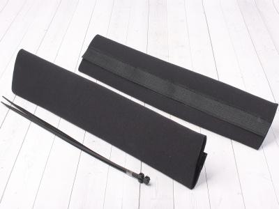 Защитные чехлы на передние амортизаторы (перья вилки) черные фото 1