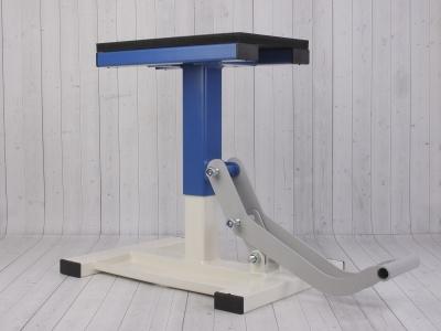 Подставка под кроссовый мотоцикл с лифтом (пр-во Россия) синяя фото 3