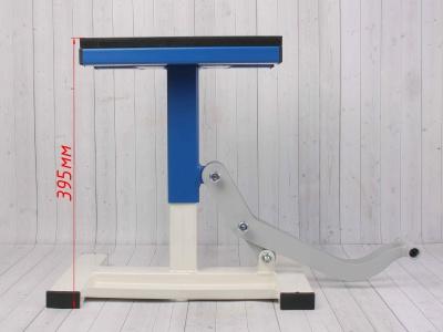 Подставка под кроссовый мотоцикл с лифтом (пр-во Россия) синяя фото 7