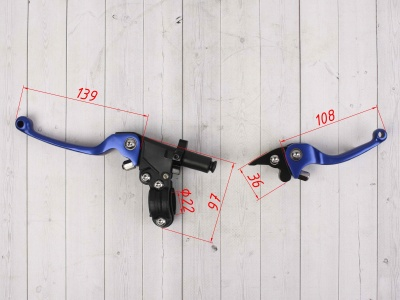 Комплект рычагов ASV синие фото 3