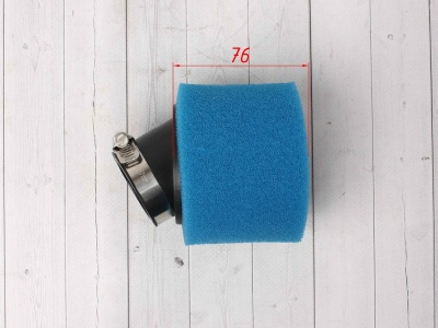 Фильтр воздушный 42мм угловой синий фото 3