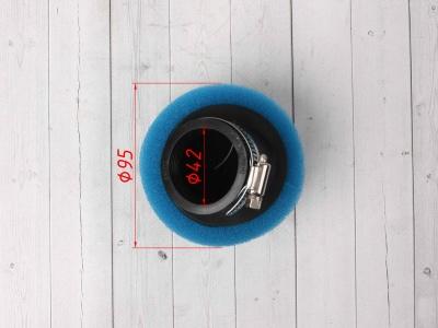 Фильтр воздушный 42мм угловой синий фото 5