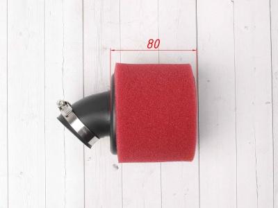 Фильтр воздушный 38мм угловой красный SCOOTER-M фото 3
