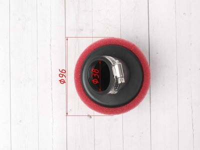 Фильтр воздушный 38мм угловой красный SCOOTER-M фото 5