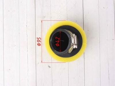 Фильтр воздушный 42мм угловой желтый фото 5