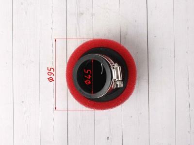 Фильтр воздушный угловой 45мм красный фото 5