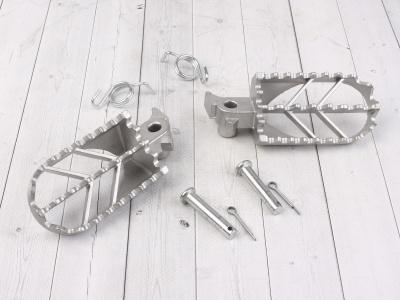 Подножки стальные для питбайка мотоцикла электробайка фото 1
