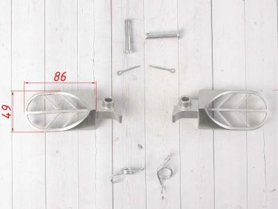 Подножки стальные для питбайка мотоцикла электробайка фото 3