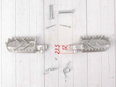 Подножки стальные для питбайка мотоцикла электробайка фото 5