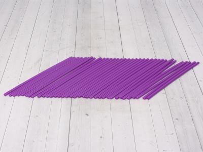 Трубки для спиц 35шт фиолетовые фото 1