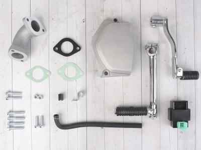 Двигатель YX 125см3 в сборе, электростартер, п/автомат 153FMI (W120) фото 15