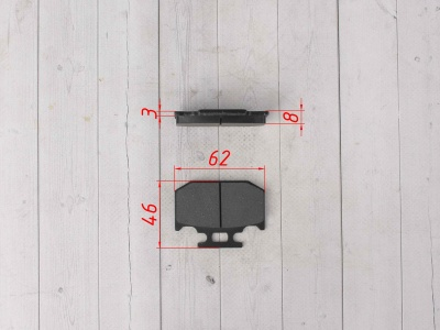 Колодки тормозные задние J1/J2/Z5/Z6 фото 3